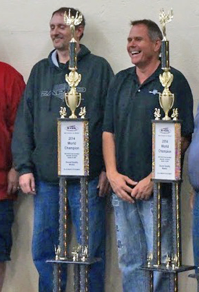 Kirk Proffit (Lft) and Jim Becker (Rt) with their championship trophies.